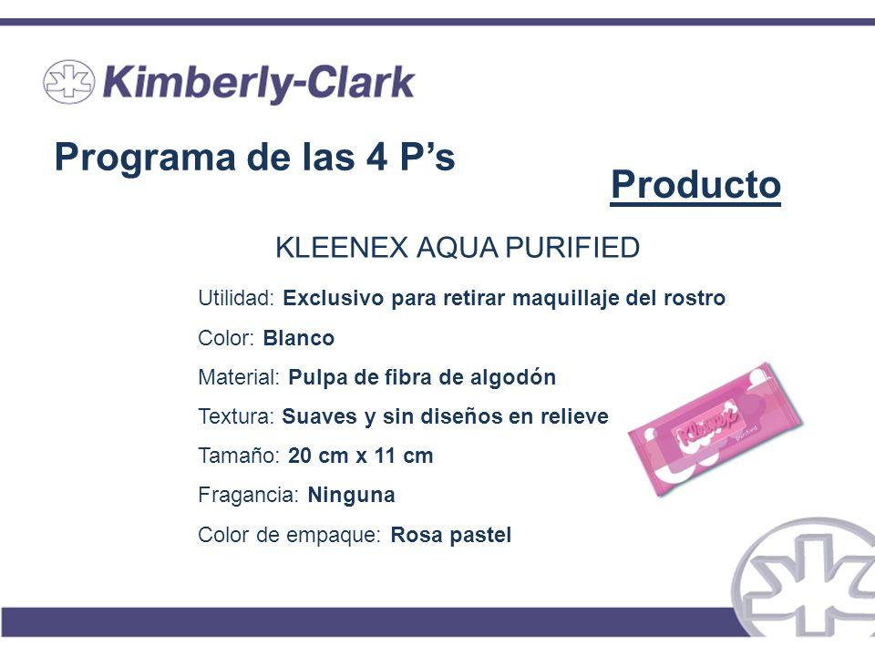 Programa de las 4 P's Producto KLEENEX AQUA PURIFIED