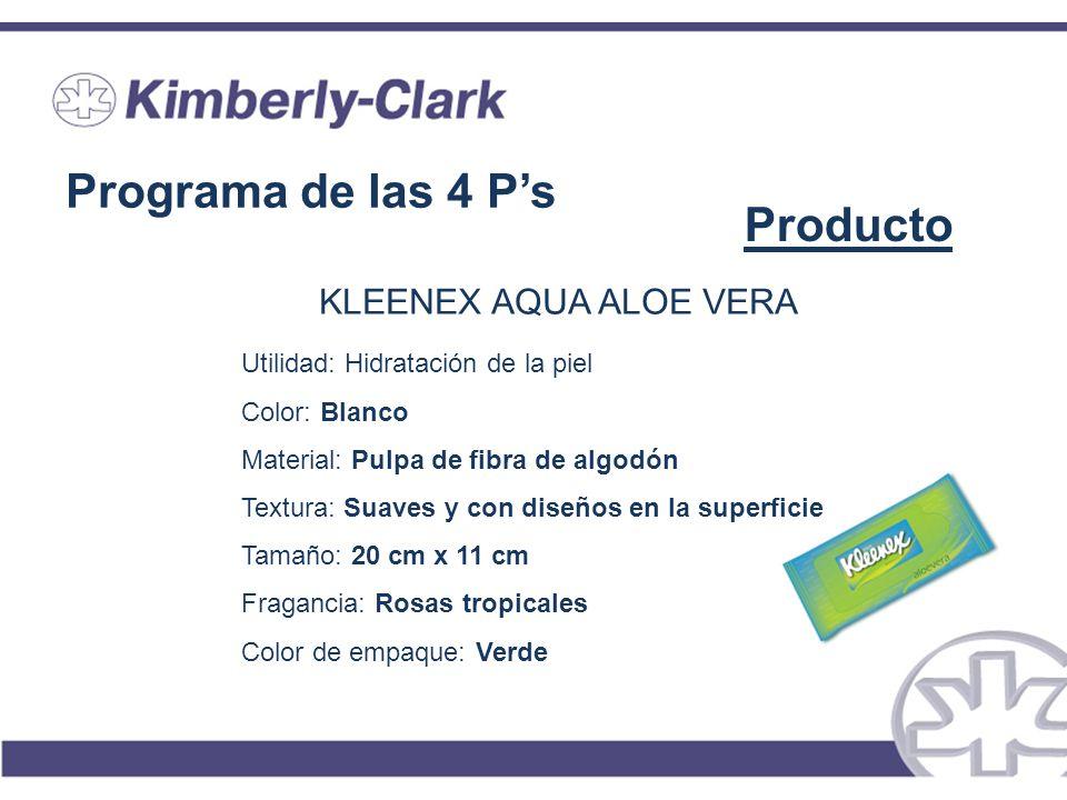 Programa de las 4 P's Producto KLEENEX AQUA ALOE VERA