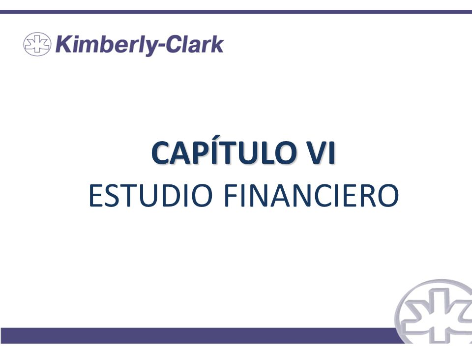 CAPÍTULO VI ESTUDIO FINANCIERO
