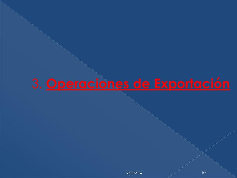 3. Operaciones de Exportación