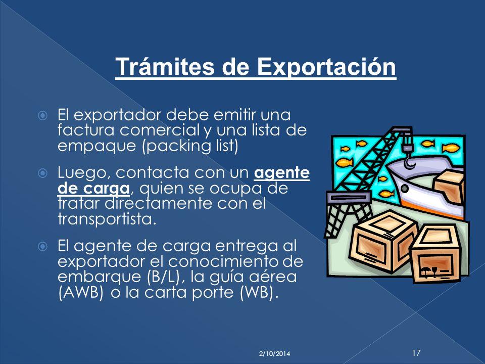 Trámites de Exportación