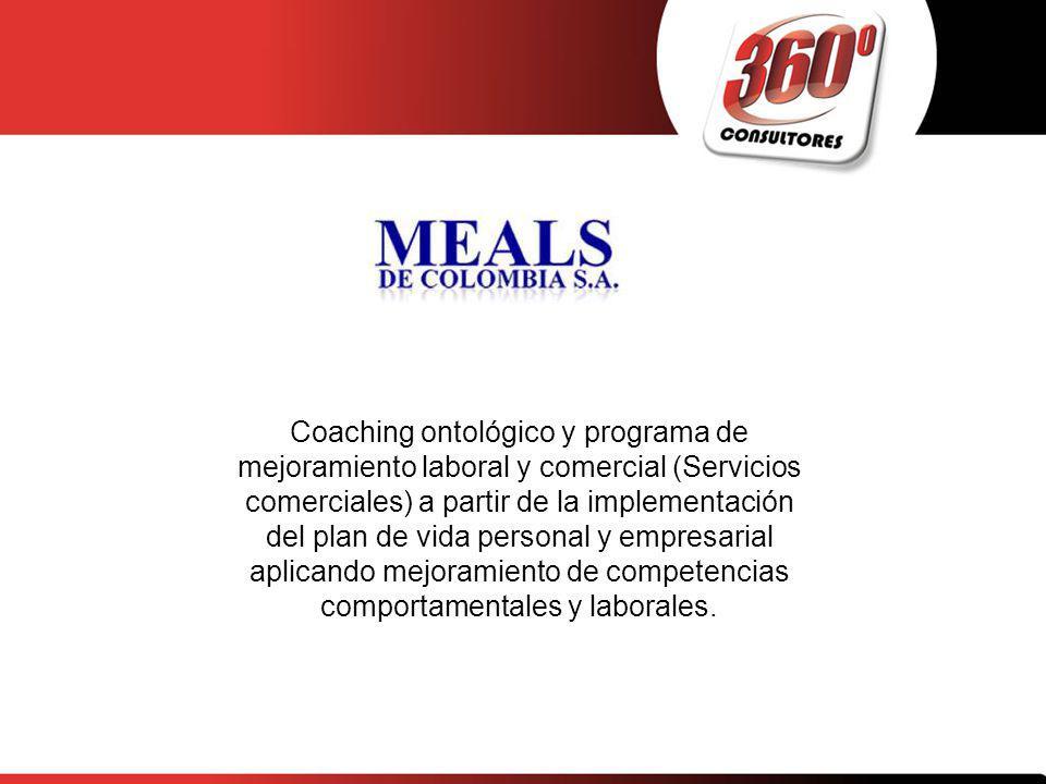 Coaching ontológico y programa de mejoramiento laboral y comercial (Servicios comerciales) a partir de la implementación del plan de vida personal y empresarial aplicando mejoramiento de competencias comportamentales y laborales.