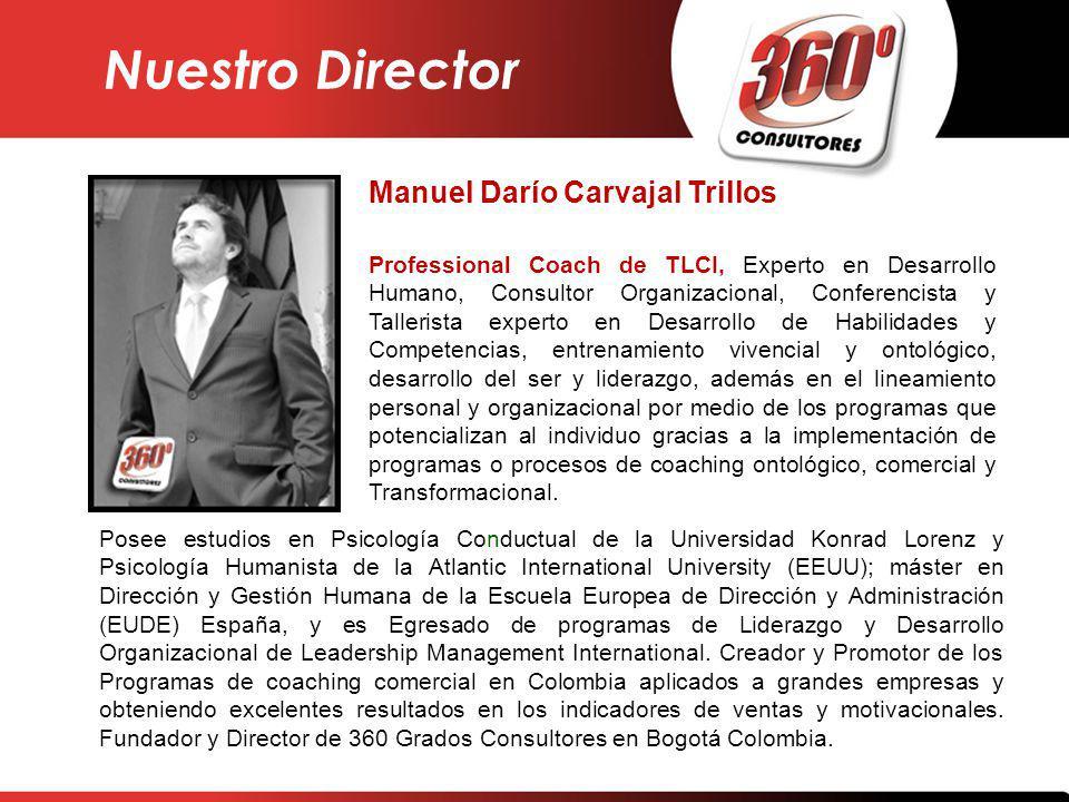 Nuestro Director Manuel Darío Carvajal Trillos