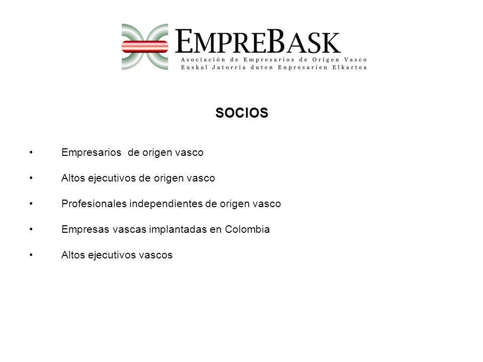 SOCIOS Empresarios de origen vasco Altos ejecutivos de origen vasco