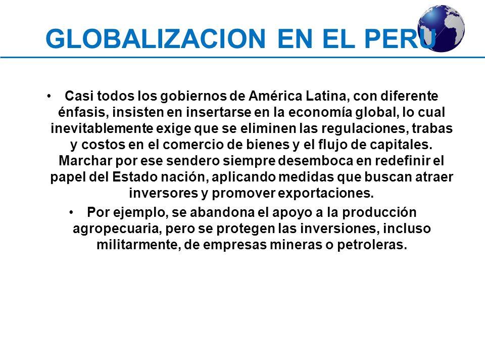 GLOBALIZACION EN EL PERU