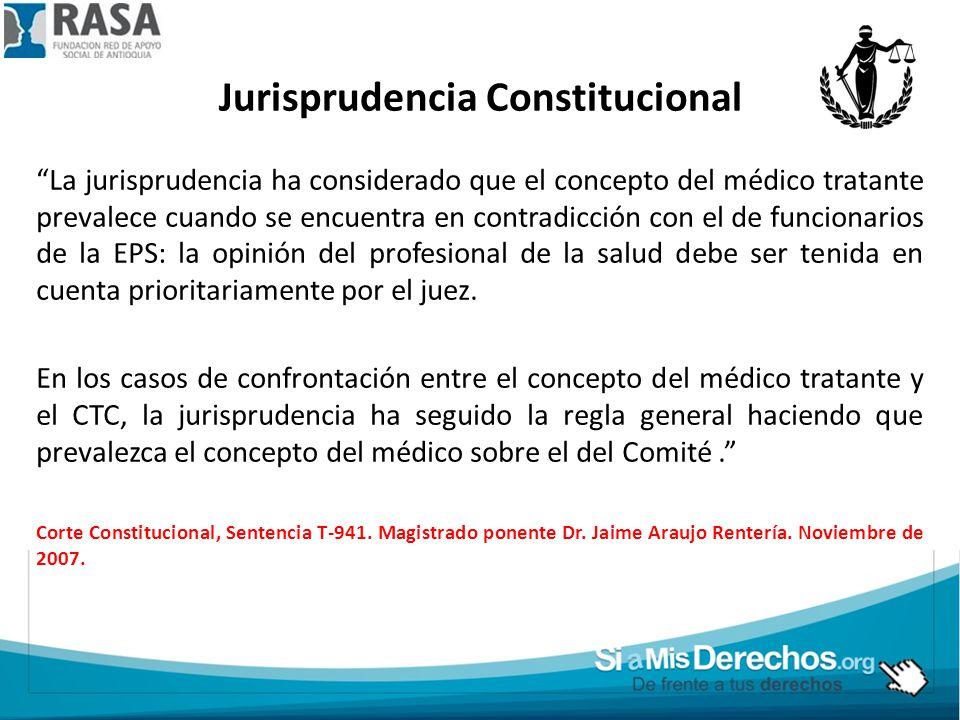 Jurisprudencia Constitucional
