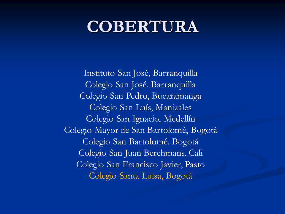 COBERTURA COBERTURA Instituto San José, Barranquilla