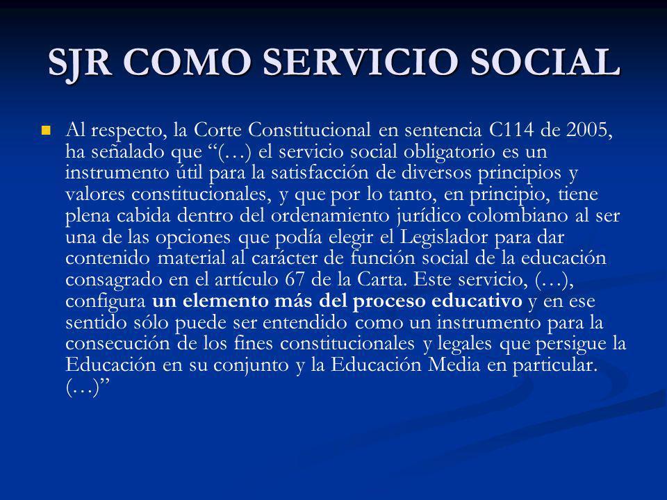 SJR COMO SERVICIO SOCIAL