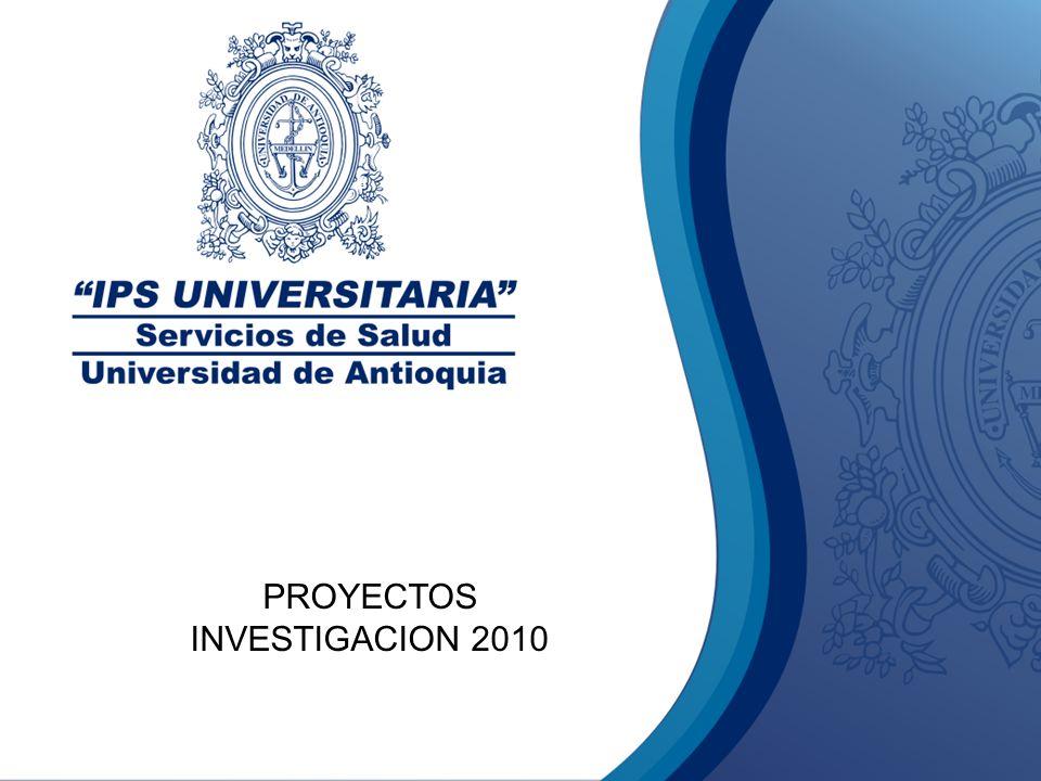 PROYECTOS INVESTIGACION 2010