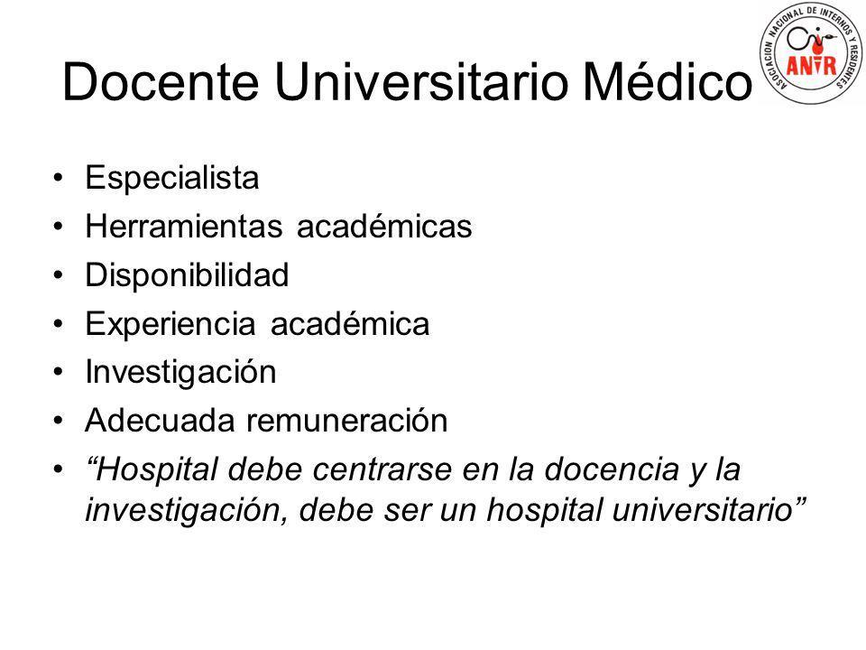 Docente Universitario Médico