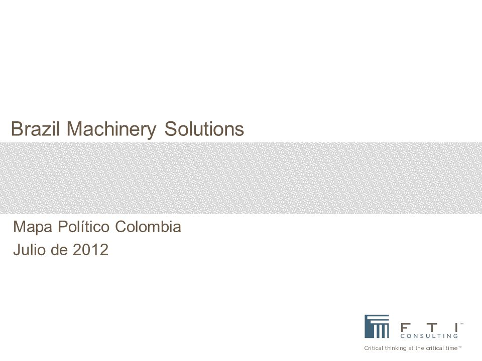 Brazil Machinery Solutions