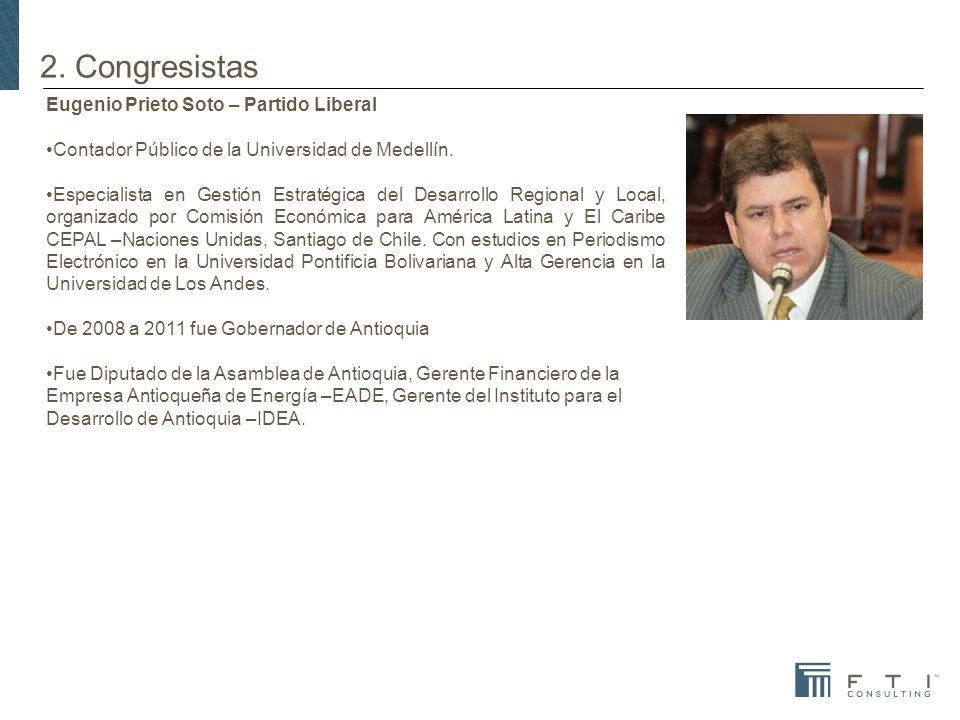 2. Congresistas Eugenio Prieto Soto – Partido Liberal