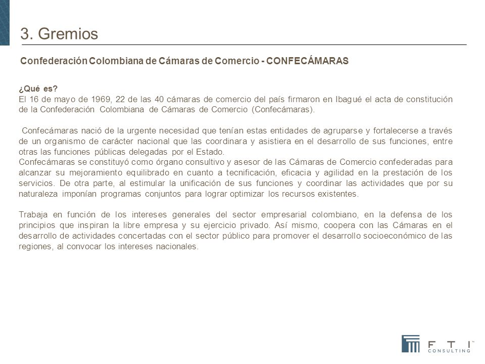 Confederación Colombiana de Cámaras de Comercio - CONFECÁMARAS