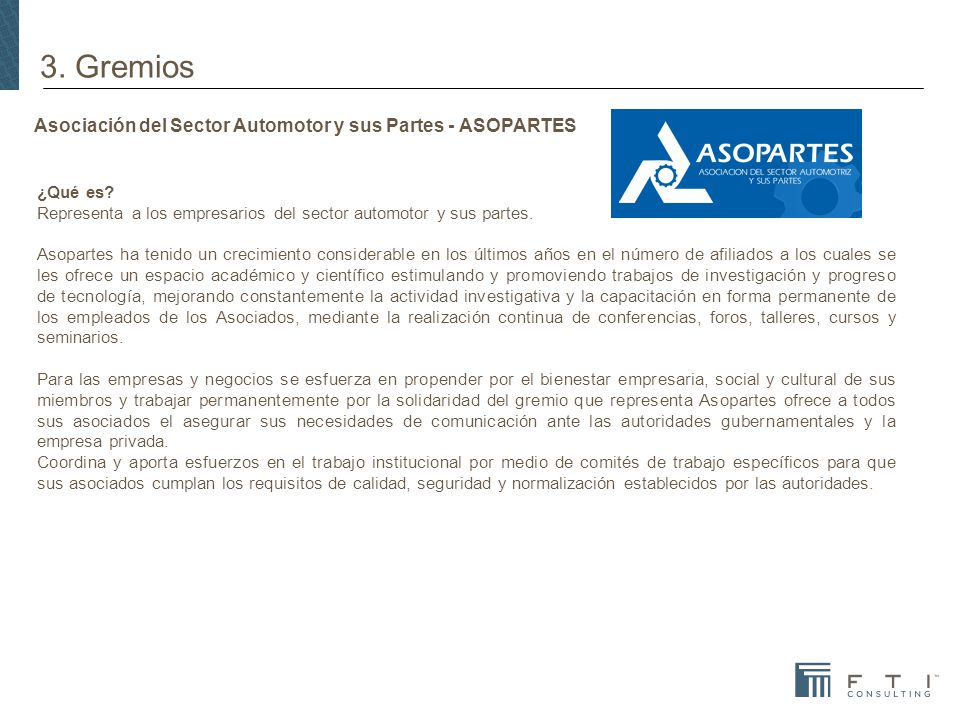 Asociación del Sector Automotor y sus Partes - ASOPARTES