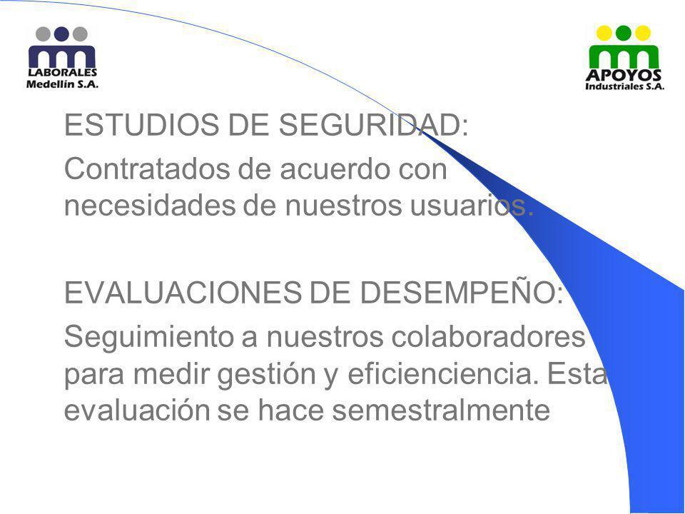 ESTUDIOS DE SEGURIDAD: