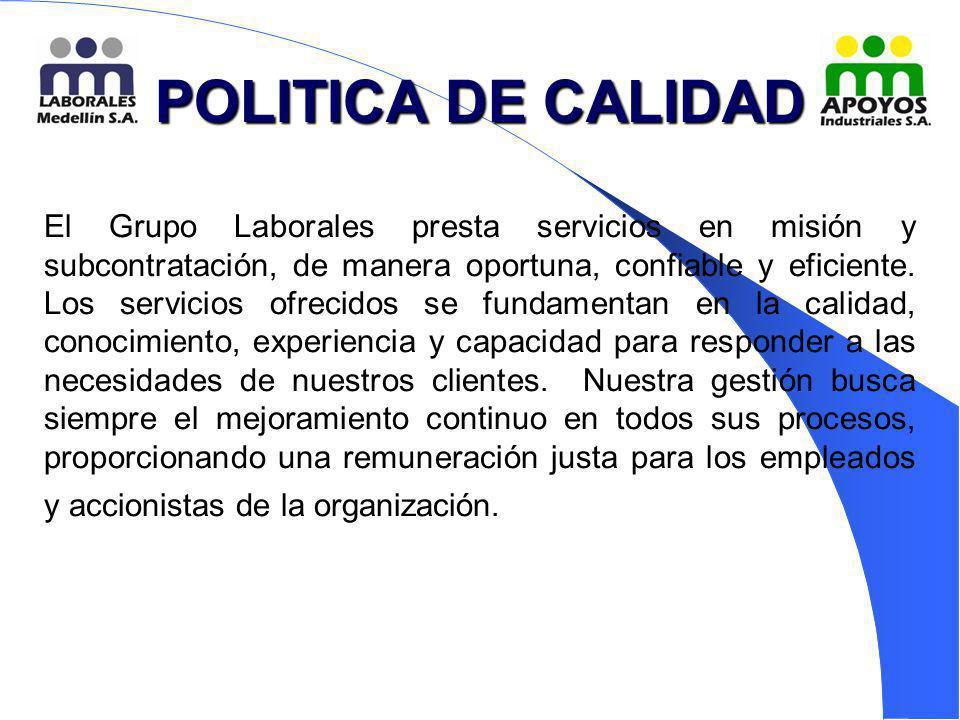 POLITICA DE CALIDAD
