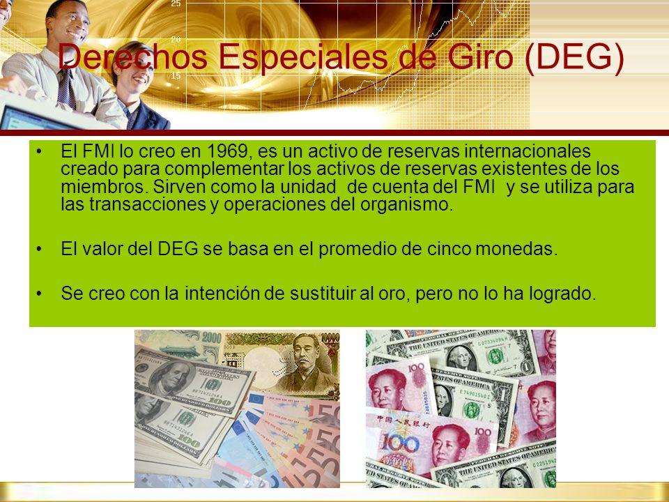 Derechos Especiales de Giro (DEG)