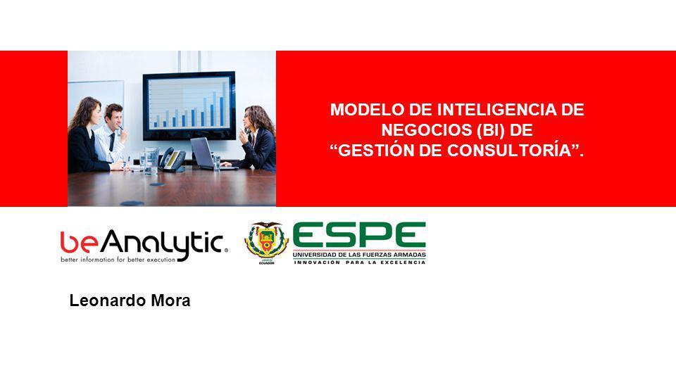 MODELO DE INTELIGENCIA DE NEGOCIOS (BI) DE GESTIÓN DE CONSULTORÍA .
