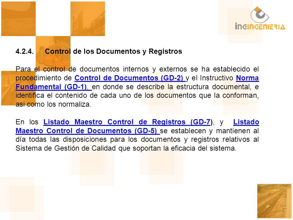 4.2.4. Control de los Documentos y Registros