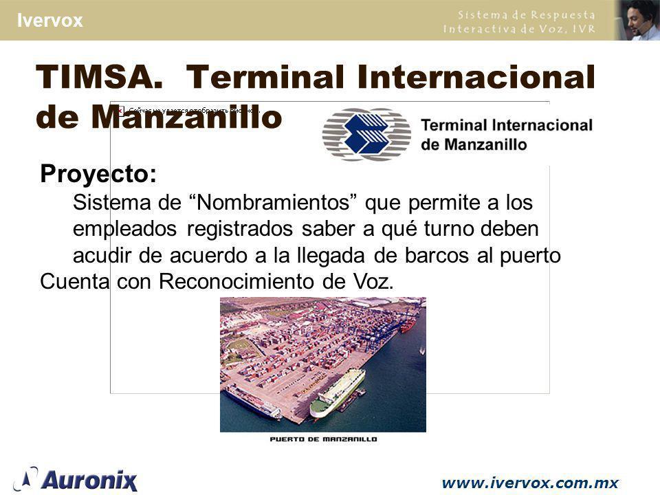 TIMSA. Terminal Internacional de Manzanillo