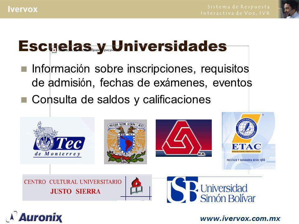 Escuelas y Universidades
