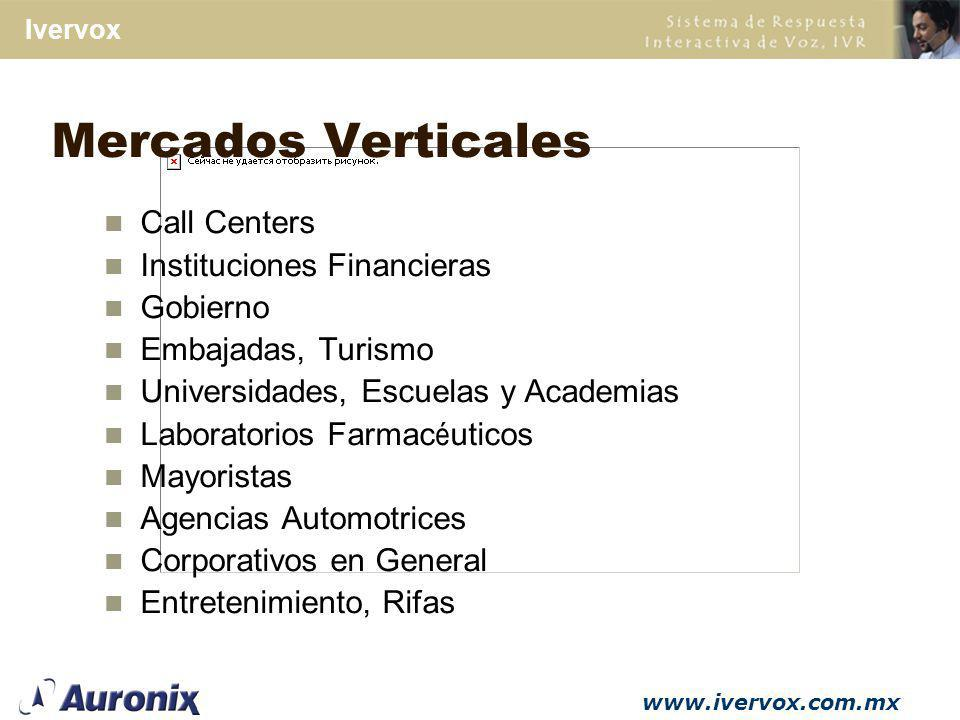 Mercados Verticales Call Centers Instituciones Financieras Gobierno