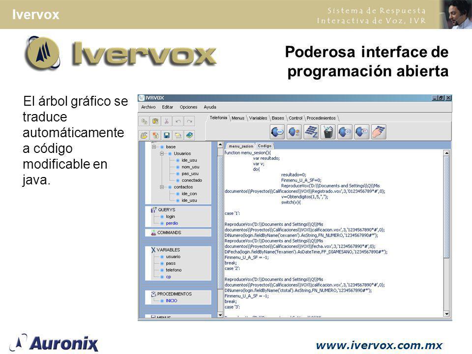 Poderosa interface de programación abierta