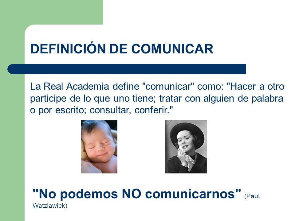 DEFINICIÓN DE COMUNICAR