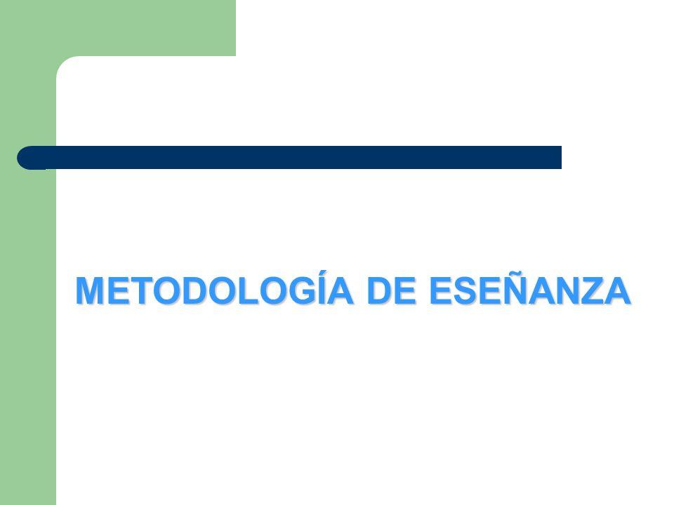 METODOLOGÍA DE ESEÑANZA