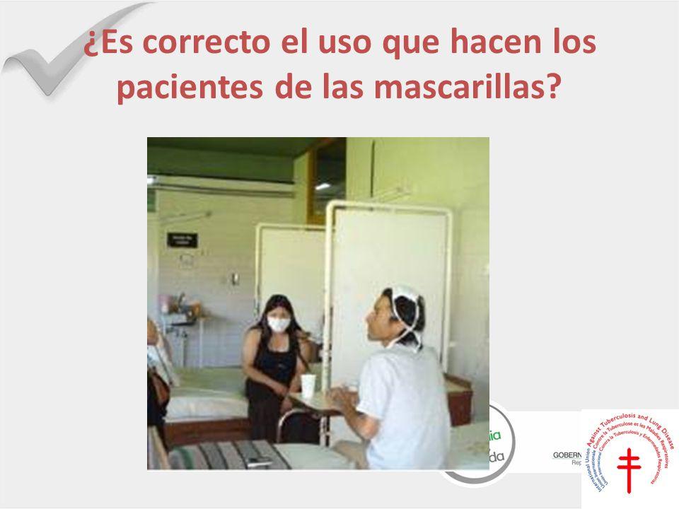 ¿Es correcto el uso que hacen los pacientes de las mascarillas