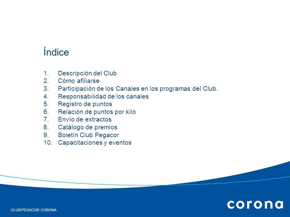 Índice Descripción del Club Cómo afiliarse
