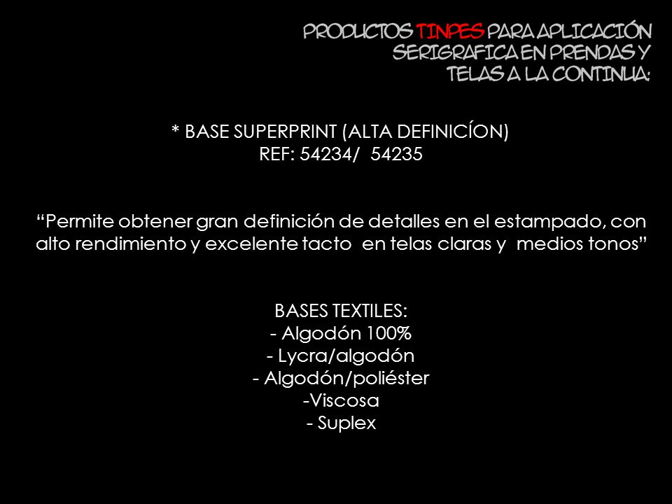 * BASE SUPERPRINT (ALTA DEFINICÍON)