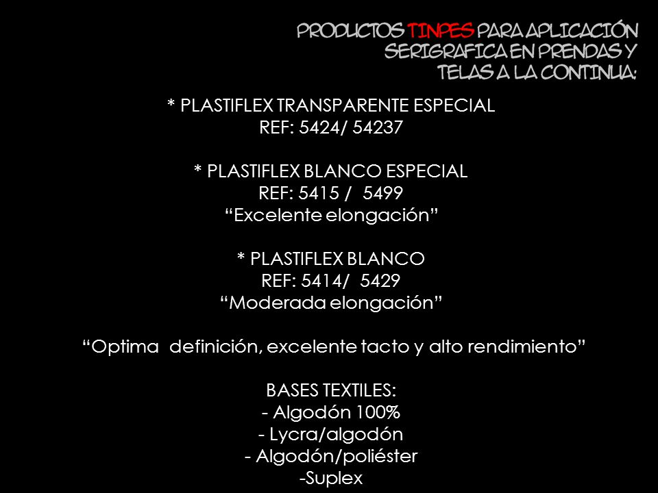 * PLASTIFLEX TRANSPARENTE ESPECIAL