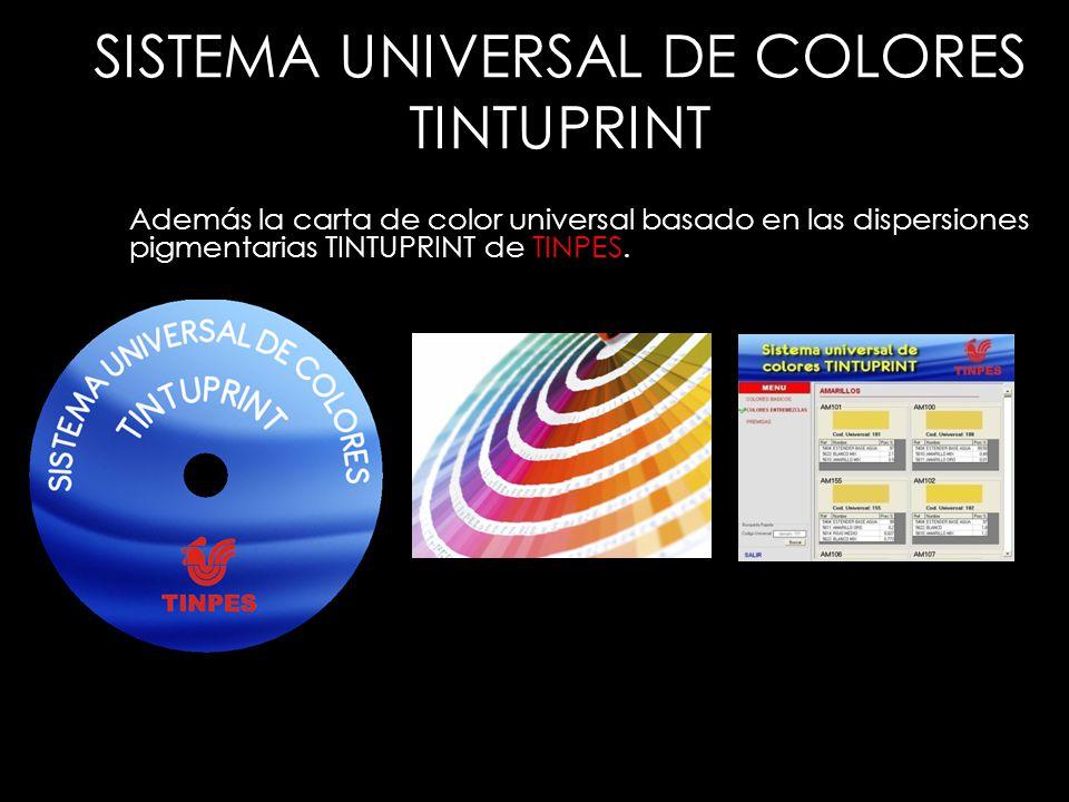 SISTEMA UNIVERSAL DE COLORES TINTUPRINT