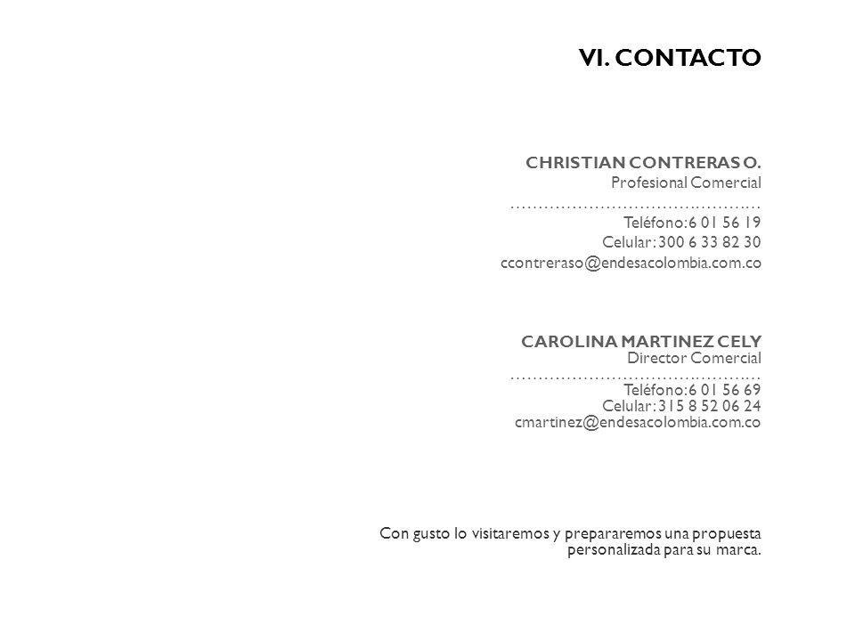 VI. CONTACTO CHRISTIAN CONTRERAS O. Profesional Comercial