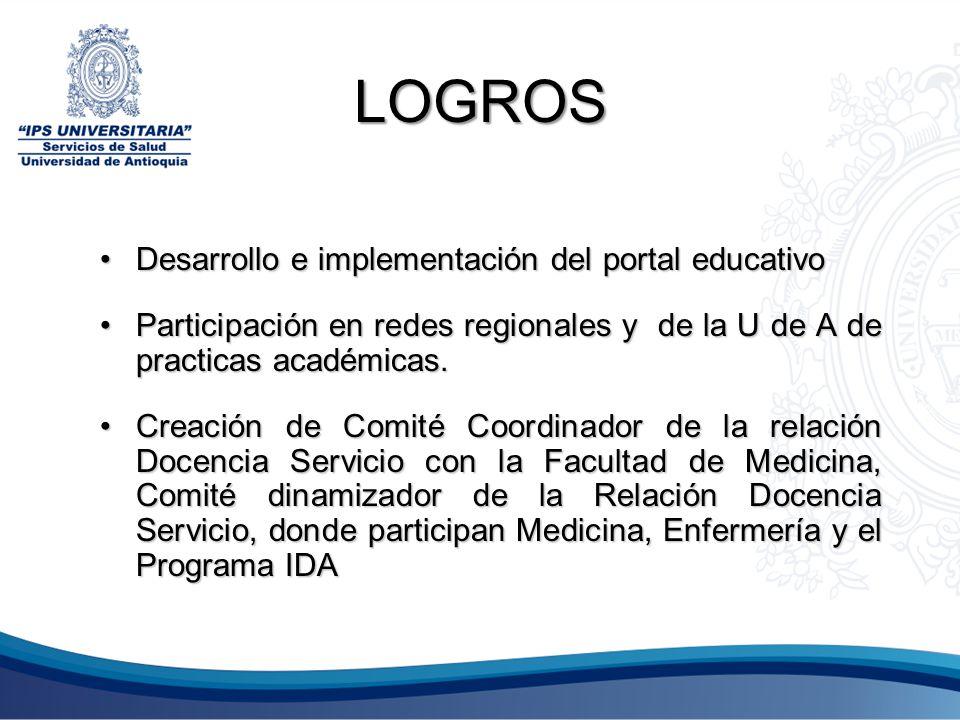 LOGROS Desarrollo e implementación del portal educativo