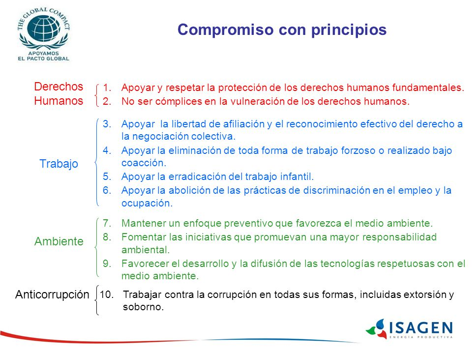 Compromiso con principios