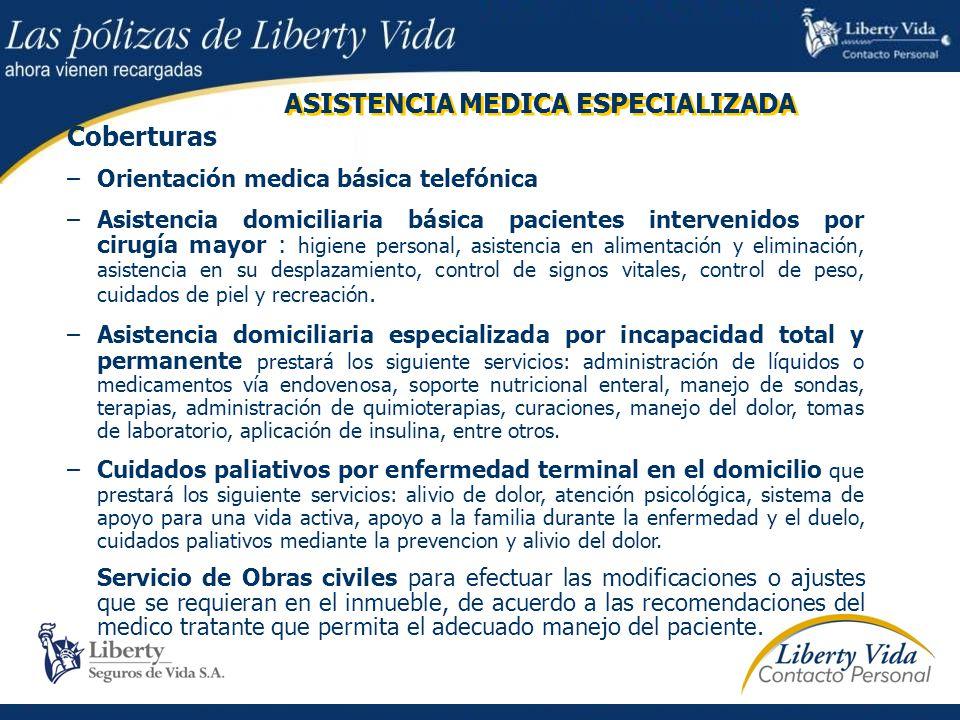ASISTENCIA MEDICA ESPECIALIZADA