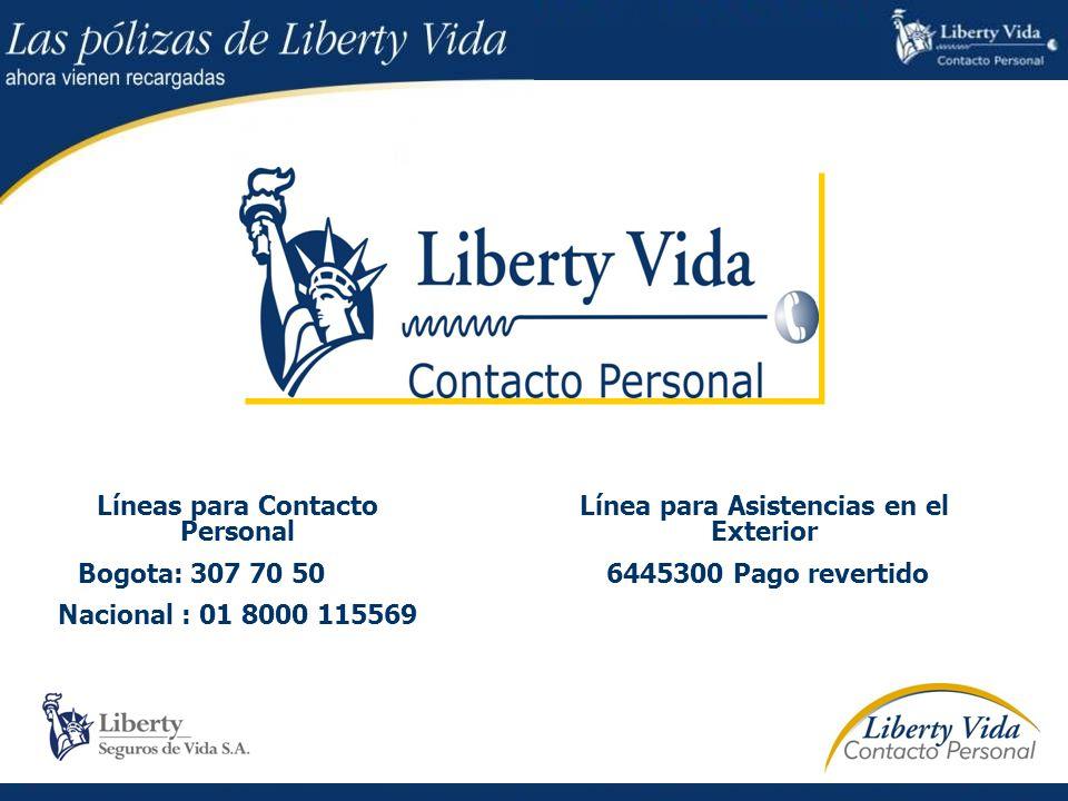 Líneas para Contacto Personal Línea para Asistencias en el Exterior