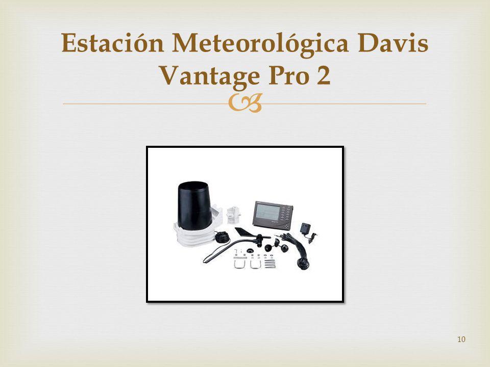 Estación Meteorológica Davis Vantage Pro 2