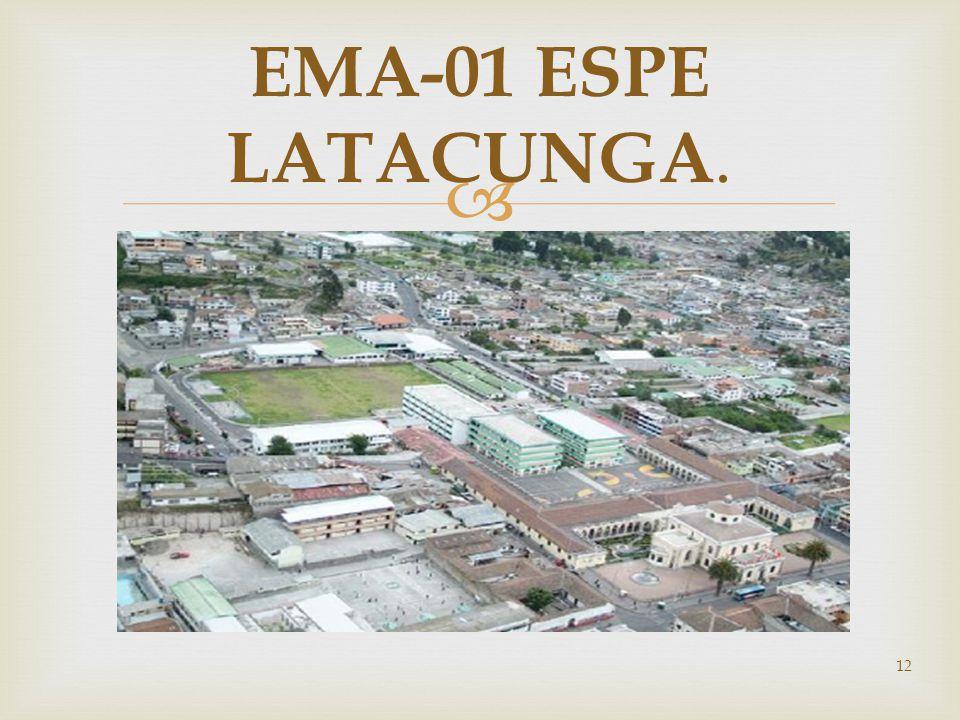 EMA-01 ESPE LATACUNGA.