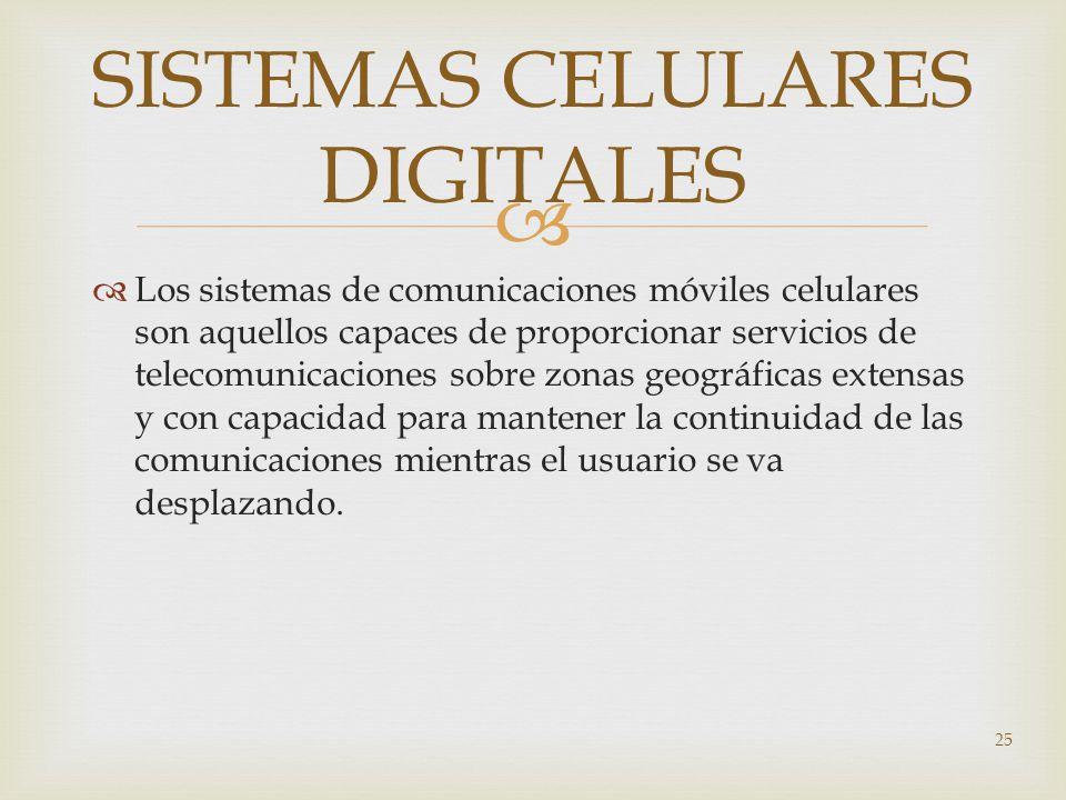 SISTEMAS CELULARES DIGITALES
