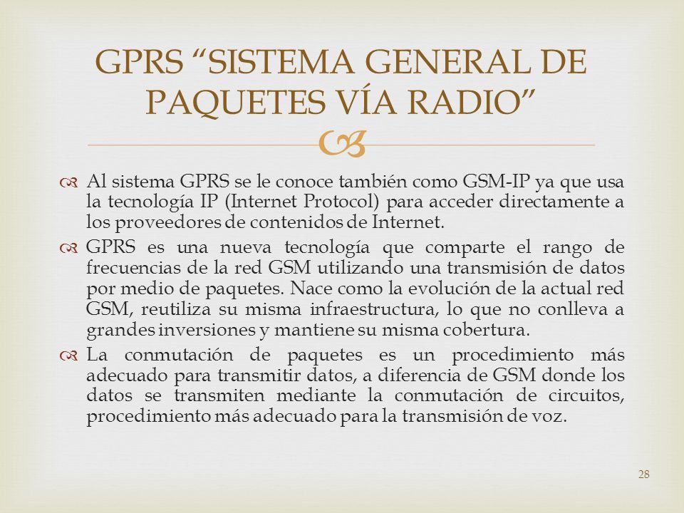 GPRS SISTEMA GENERAL DE PAQUETES VÍA RADIO
