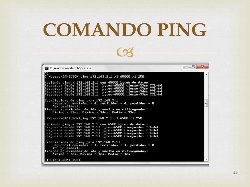 COMANDO PING