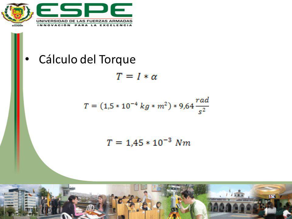 Cálculo del Torque