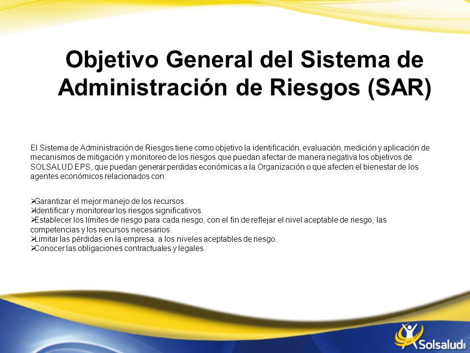 Objetivo General del Sistema de Administración de Riesgos (SAR)