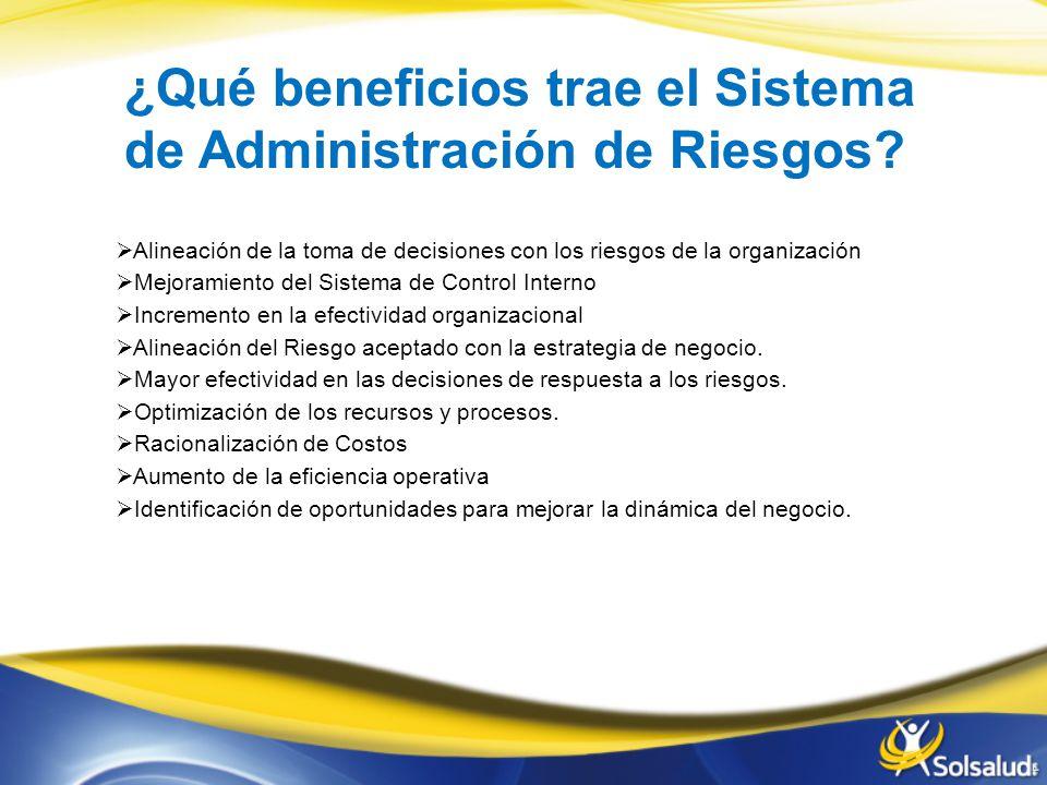 ¿Qué beneficios trae el Sistema de Administración de Riesgos