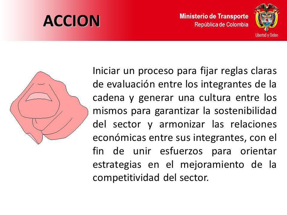 ACCION Ministerio de Transporte República de Colombia.