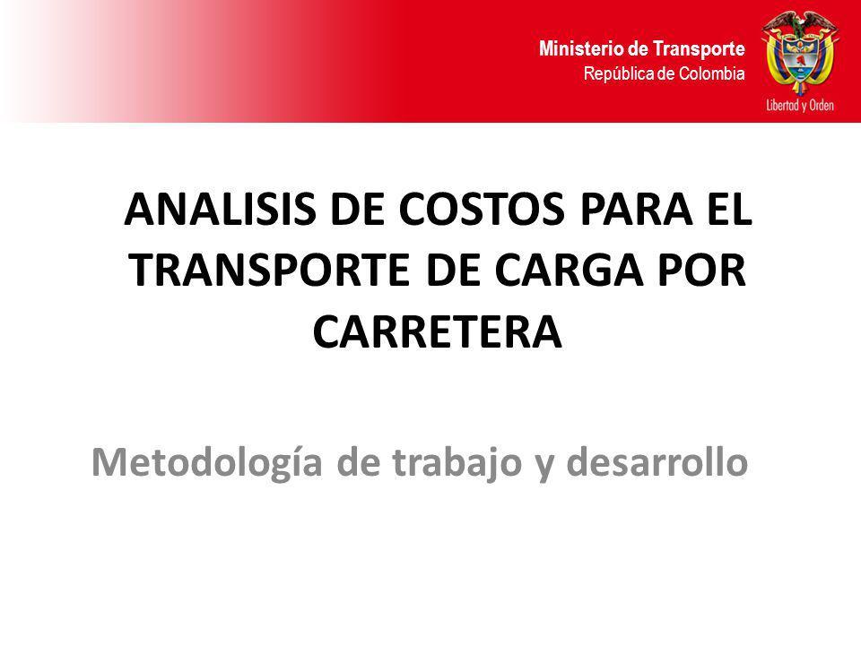 ANALISIS DE COSTOS PARA EL TRANSPORTE DE CARGA POR CARRETERA