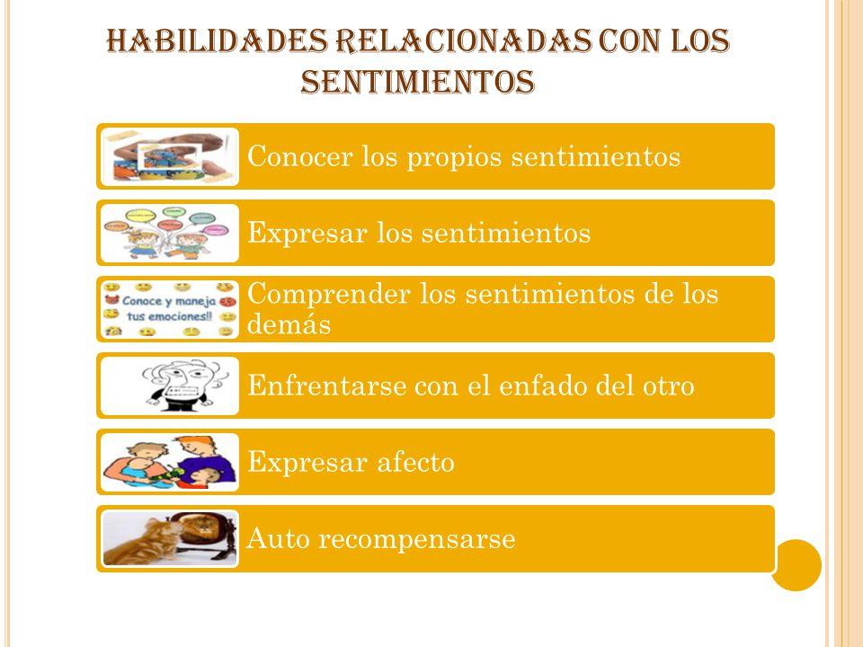 HABILIDADES RELACIONADAS CON LOS SENTIMIENTOS